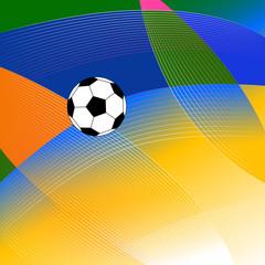 Dynamic Soccer Poster.