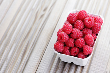 box of raspberries