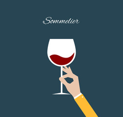 Sommelier. Flat illustration