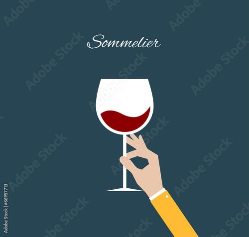Sommelier. Flat illustration - 66957713
