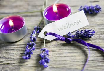 Wellnessschildchen mit Dekoration