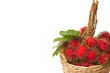 Tropical fruit, Fresh rambutan in the basket