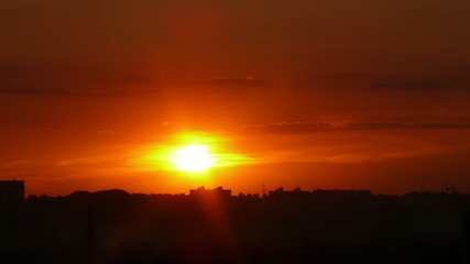 Timelapse sunrise in FullHD 1080p.