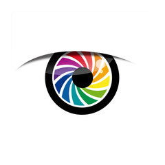 Vector Logo rainbow eye, iris