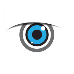 Vector Logo blue eye, iris