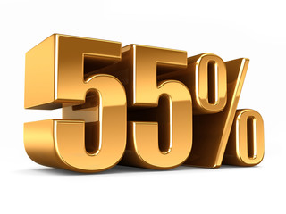3d render of a Gold 55 percent