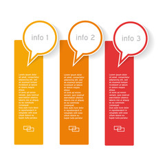 Info graphics with three options