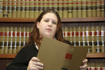 Law Books, Woman Lawyer