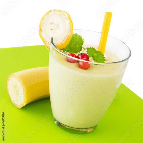 canvas print picture Banana - Drink