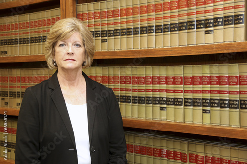 Woman Attorney in Law Office, Library - 66959174