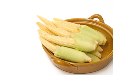 Baby corn in the bowl