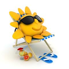 Beach bed and sun