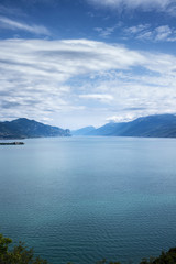 panoramic view of lake Garda