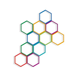 Vector background with hexagons