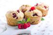 Raspberry bran muffins