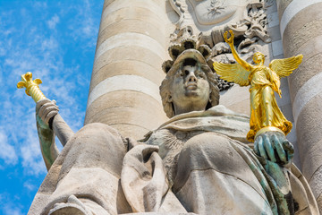 Alexander III Bridge, Paris, architectural detail