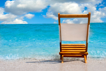 Single chair at the beach