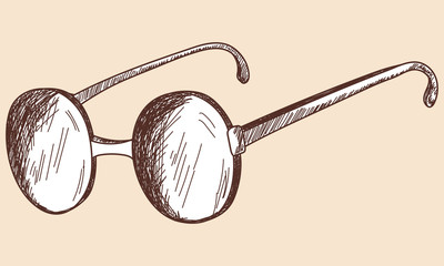 Glasses sketch.