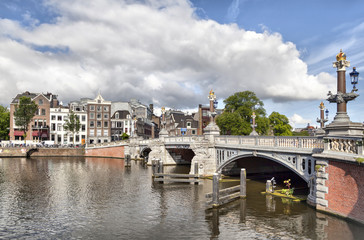 Blauwbrug bridge in Amsterdam
