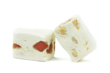 Soft nougat with peanuts and fruits