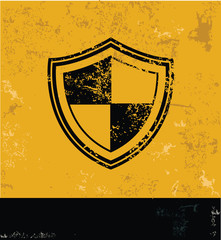 Security symbol,grunge vector