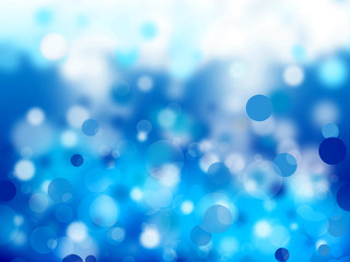 Blue Bubbles Abstract Background