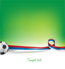 russian  background with soccer ball