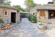 Dalmatian old  stone village street