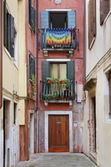 Old residential house in Venice, Italy