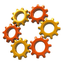 Ring of orange gears