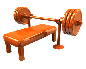 Orange fitness icon