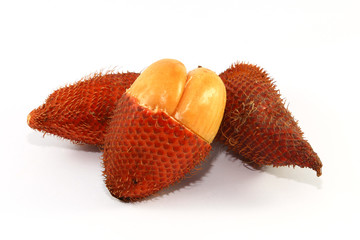 Snake Fruit on white background