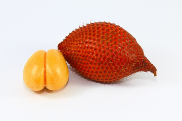 Zalacca fruit on white background