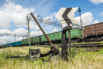 A rail shooter, top view, Russia