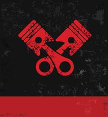 Engine symbol,grunge vector