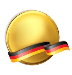 Goldmedaille u. Banderole mit deutscher Flagge