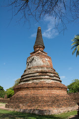 Old Temple Architecture , Wat Phra si sanphet at Ayutthaya, Thai
