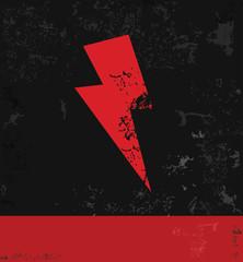 Thunder storm symbol,grunge vector