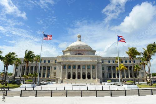 Deurstickers Vestingwerk Puerto Rico Capitol, San Juan