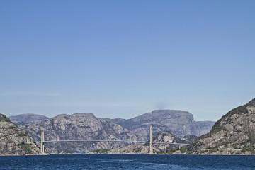 Fjordbrücke am Lysefjorden