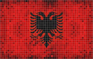 Flag of Albania - mosaic