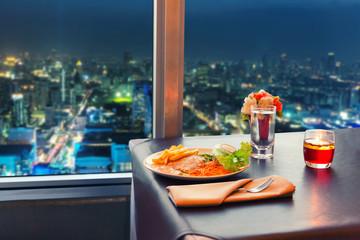 View at night Bangkok
