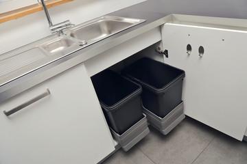 poubelles encastrées cuisine