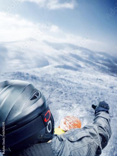Papiers peints Nautique motorise Mountain-skier jump