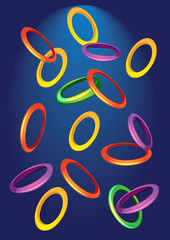 background with colored rings