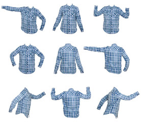 collage of woman's shirts