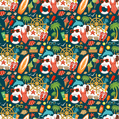 Seamless beach pattern.
