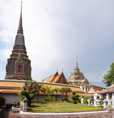 Wat Pho, the Temple of Reclining Buddha in Bangkok, Thailand