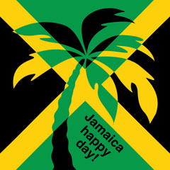 Jamaica happy day! Greeting card.