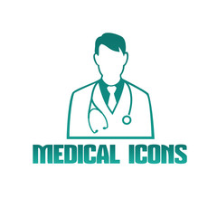 Medical icon with doctor therapist